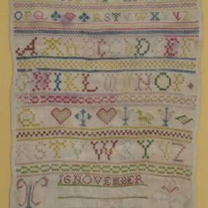 GEORGE I SAMPLER BY SARAH HOGGE