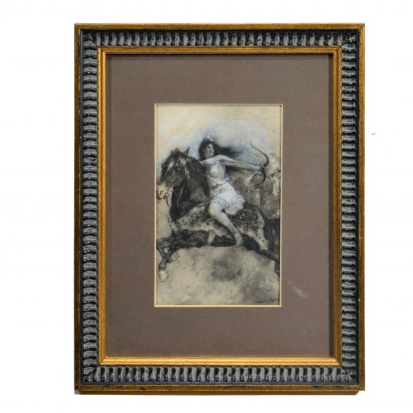 walter-paget-watercolour-amazonian-rider-antique-for-sale-DSC_9271
