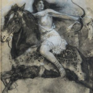 WALTER PAGET-WATERCOLOUR-AMAZIONIAN RIDER