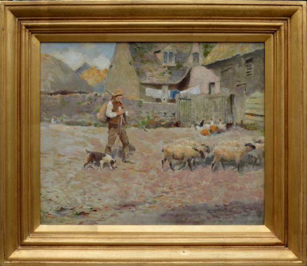 fred-hall-oil-painting-farm-sheep-shepherd-for-sale-DSC_9671
