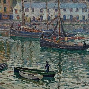 JOHN ANTHONY PARK-OIL PAINTING-BRIXHAM HARBOUR