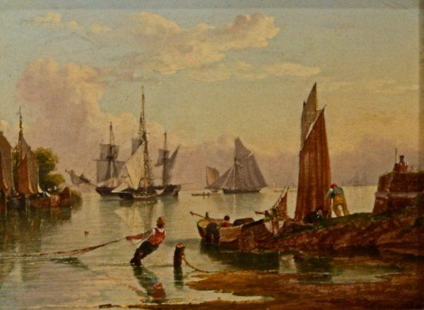 JOHN WARD OF HULL-PAIR OF OIL PAINTINGS-RIVER HUMBER