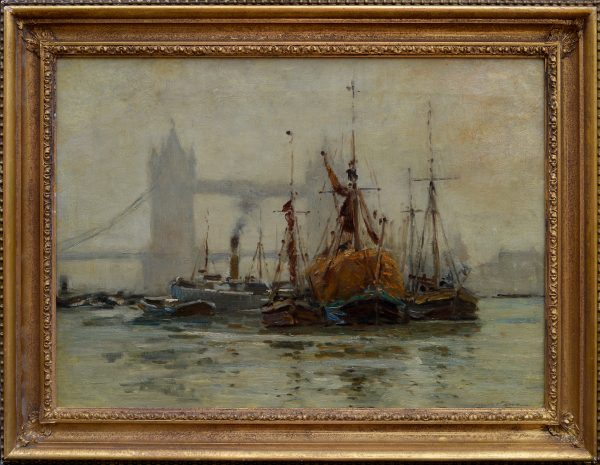 robert-weir-allan-oil-painting-shipping-river-thames-london-tower-bridge-DSC_9675