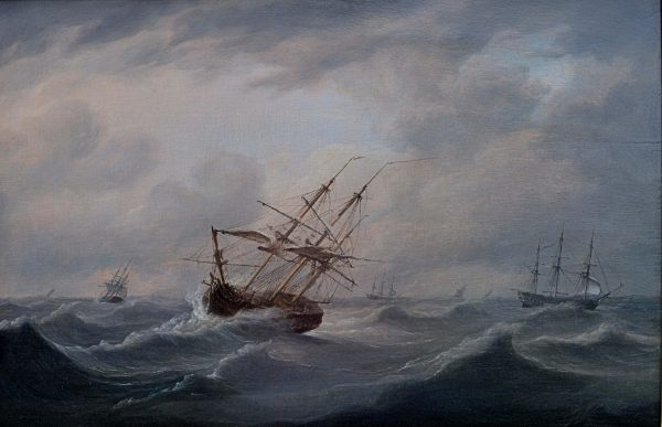 ATTRIBUTED TO THOMAS LUNY-OIL PAINTING-R.N. SHIPPING