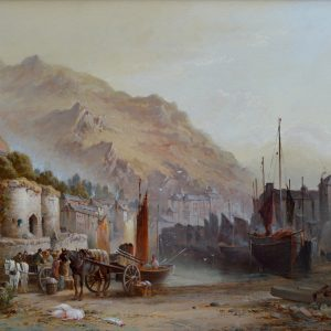WILLIAM GIBBONS-OIL PAINTING-WEST COUNTRY HARBOUR