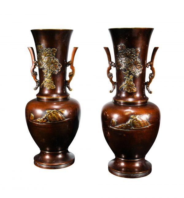 antique-pair-bronze-vases-oriental-ducks-turtles-for-sale-DSC_9716a