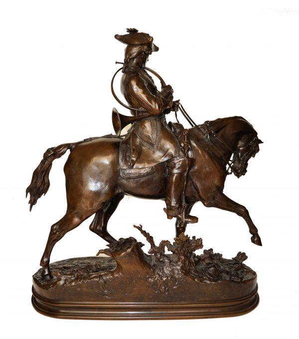 pierre-jules-mene-bronze-Veneur-Louis-XV-á-Cheval-DSC_0089a