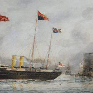 WILLIAM EDWARD ATKINS-WATERCOLOUR-HMY VICTORIA & ALBERT
