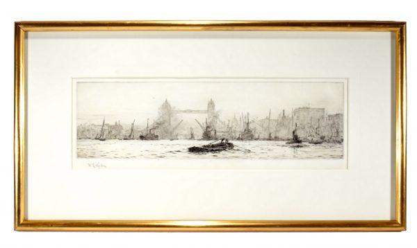 william-wyllie-etching-pool-london-tower-bridge-antique-DSC_9925a