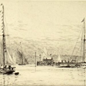 WILLIAM WYLLIE-ETCHING-ROYAL YACHT SQUADRON COWES