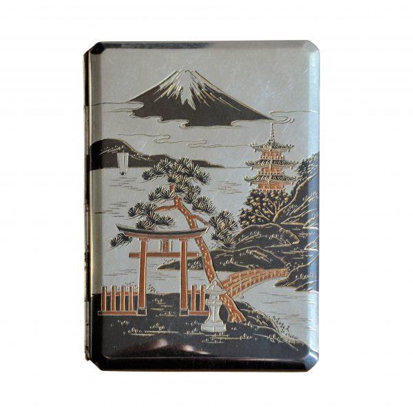VINTAGE JAPANESE SILVER & MIXED METAL CIGARETTE CASE