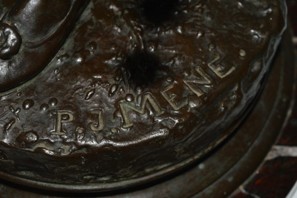 antique-bronze-mene-arab-falconer-barbedienne-