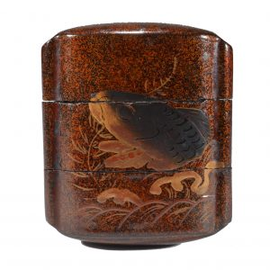 ANTIQUE JAPANESE 2 CASE LACQUER INRO
