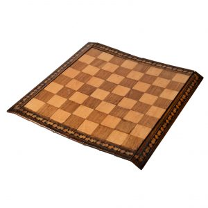 ANTIQUE CAMPAIGN ROLL UP CHESS BOARD SORRENTO