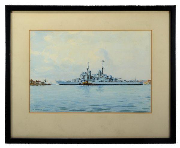eric-tufnell-watercolour-HMS-vanguard-portsmouth-still-west-DSC_0752